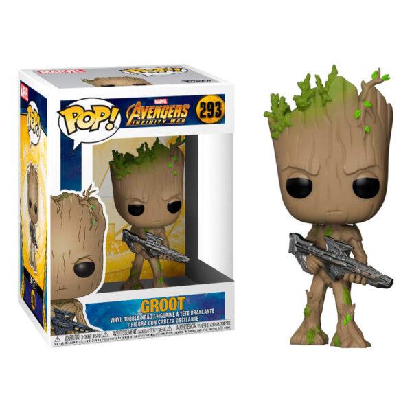 Funko POP! Marvel Avengers Infinity War Teen Groot with Gun