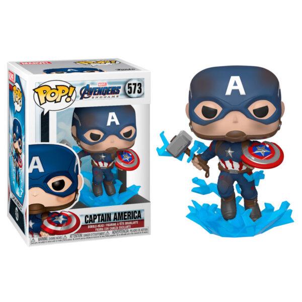 Funko POP! Marvel Vengadores Endgame Capitan America with Broken Shield & Mjolnir