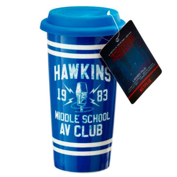 Taza viaje Hawkins AV Club Stranger Things