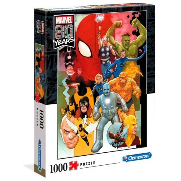 Puzzle Marvel Edición 80 Aniversario 1000 piezas