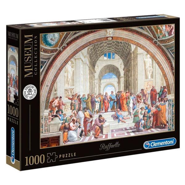 Puzzle Escuela de Athenas Raffaello Museo Vaticano 1000pzs