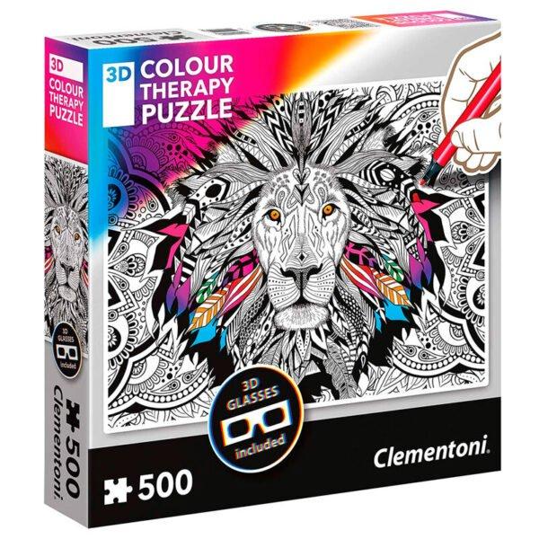 Puzzle 3D Lion Color Therapy 500pzs