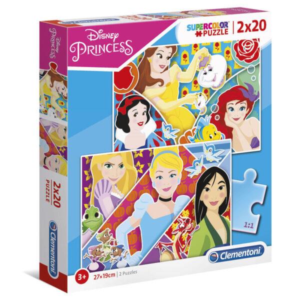 Puzzle Maxi Princesas Disney 2x20pzs
