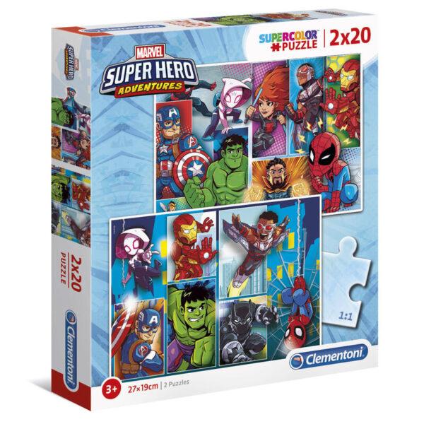 Puzzle Maxi Superhero Marvel 2x20pzs