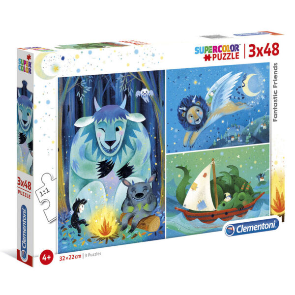 Puzzle Maxi Fantastic Friends 3x48pzs