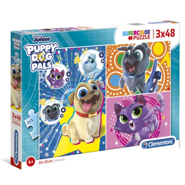 Puzzle Maxi Puppy Dog Pals 3x48pzs