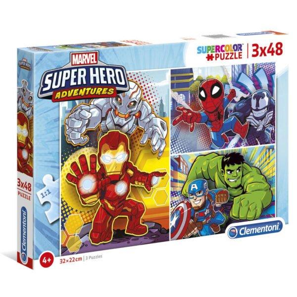 Puzzle Maxi Superhero Marvel 3x48pzs