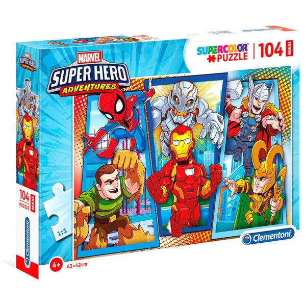 Puzzle Maxi Superhero Marvel 104pzs