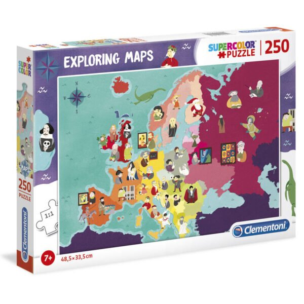 Puzzle Great Peope in Europe Exploring Maps 250pzs