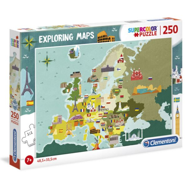 Puzzle Great Places in Europe Exploring Maps 250pzs