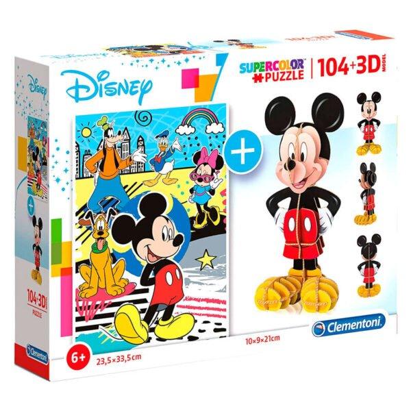 Puzzle 104 + 3D Mickey Disney 104pzs