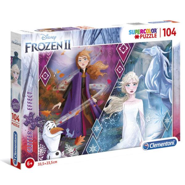Puzzle Glitter Effect Frozen 2 Disney 104pzs