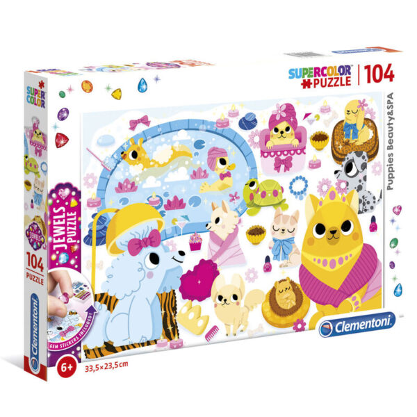 Puzzle Jewels Puppies Beauty and SPA 104pzs