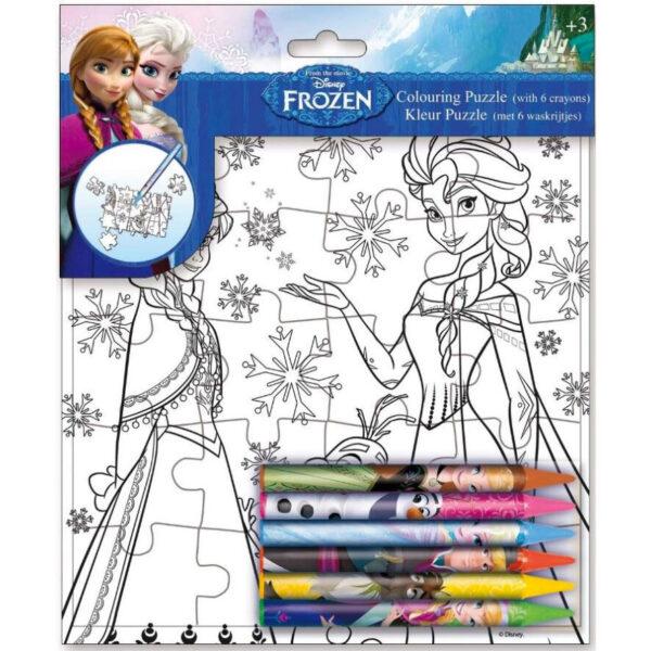 Puzzle + pinturas Frozen Disney (Pack 24 uds.)