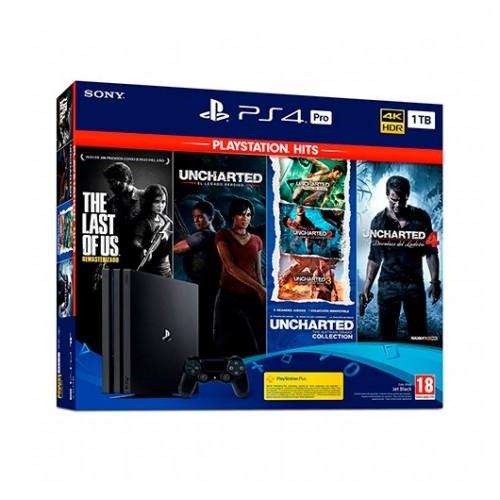 Sony PS4 PRO 1TB + Pack Juegos Hits
