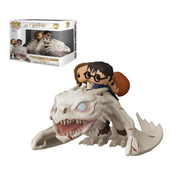 Funko POP Dragón de Gringotts con Harry, Ron y Hermione – Harry Potter