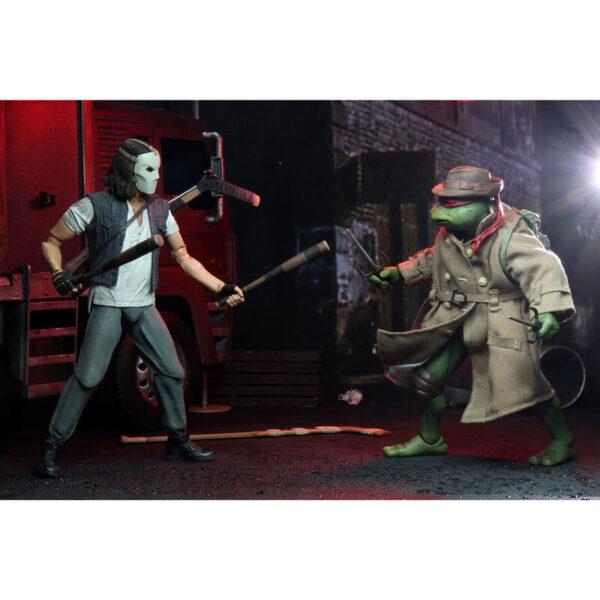 Casey Jones y Raphael disfrazado – Tortugas Ninja – 18cm