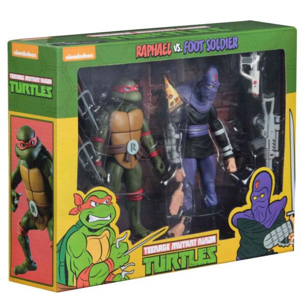 Pack 2 figuras Raphael y Foot Soldier Tortugas Ninja 18cm
