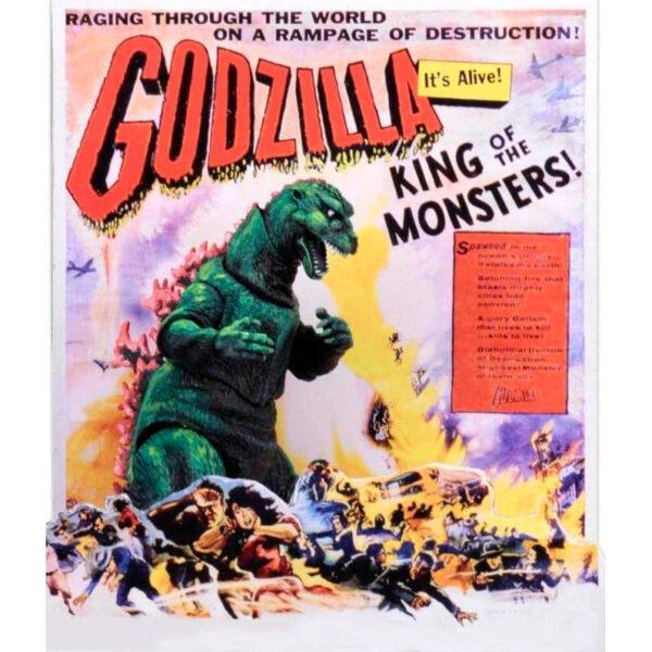 articulada Godzilla Poster 15cm