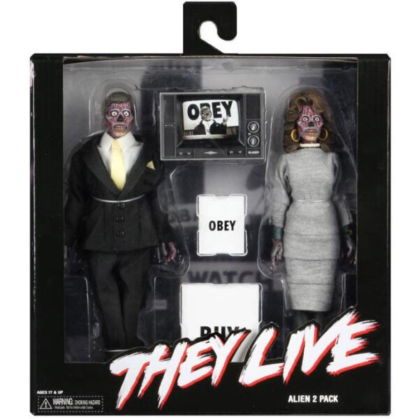 Set 2 figuras Estan Vivos They Live