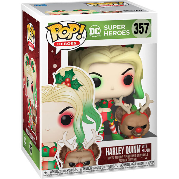 Funko POP DC Holiday Harley Quinn with Helper