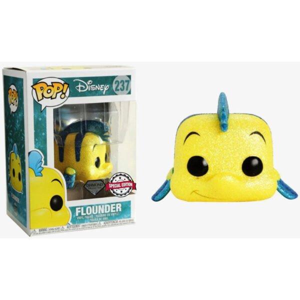 Funko POP Disney The Little Mermaid Flounder Glitter Exclusivo