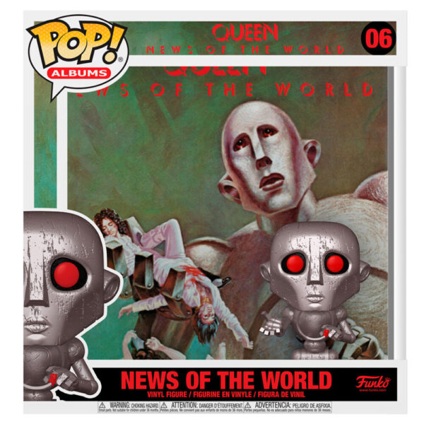 Funko POP Queen News of the World with Album Case