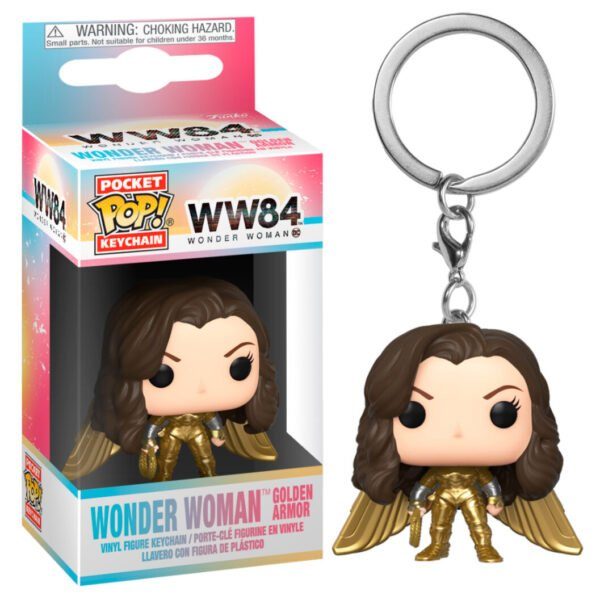 Llavero Pocket POP DC Wonder Woman 1984 Wonder Woman No Helmet Gold Wing