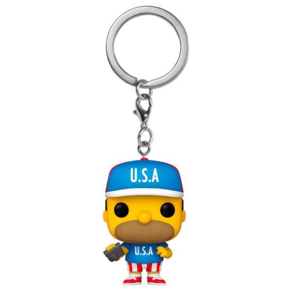 Llavero Pocket POP Simpsons USA Homer