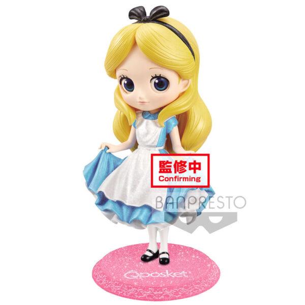 Alice Alicia en el Pais de las Maravillas Disney Glitter Q Posket A 14cm