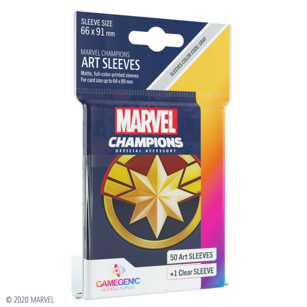 Fundas Marvel Champions de  Captain Marvel (51 uds)