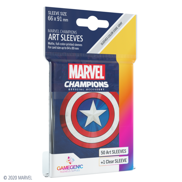 Marvel Champions Sleeves Captain America