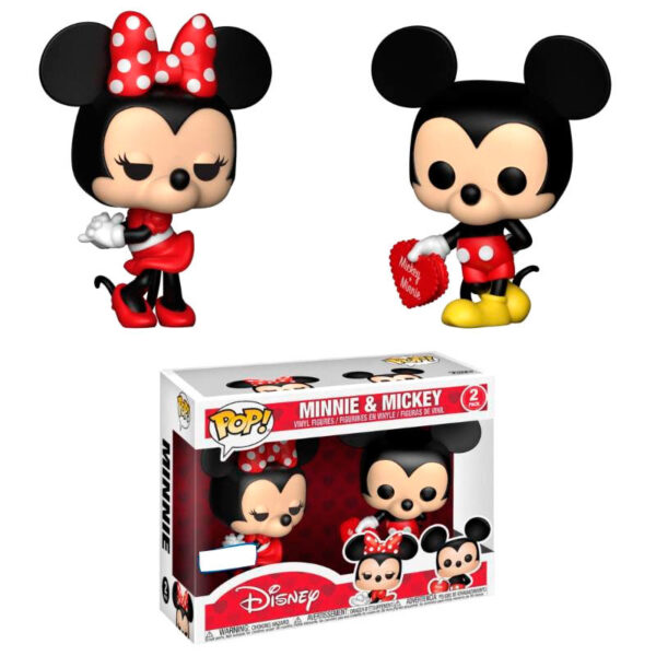 Set 2 figuras POP! Disney Valentine Mickey & Minnie Exclusivo