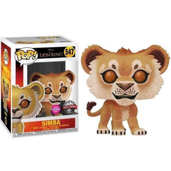 Funko POP Disney El Rey Leon Simba Flocked Exclusivo