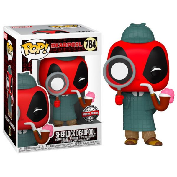 Funko POP Marvel Deadpool 30th Sherlock Deadpool Exclusivo