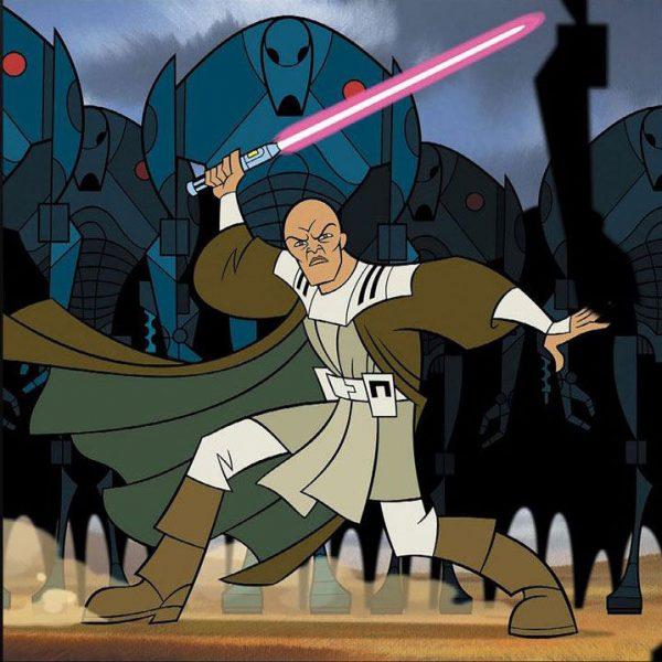 Mace Windu The Clone Wars Black Star Wars 15cm