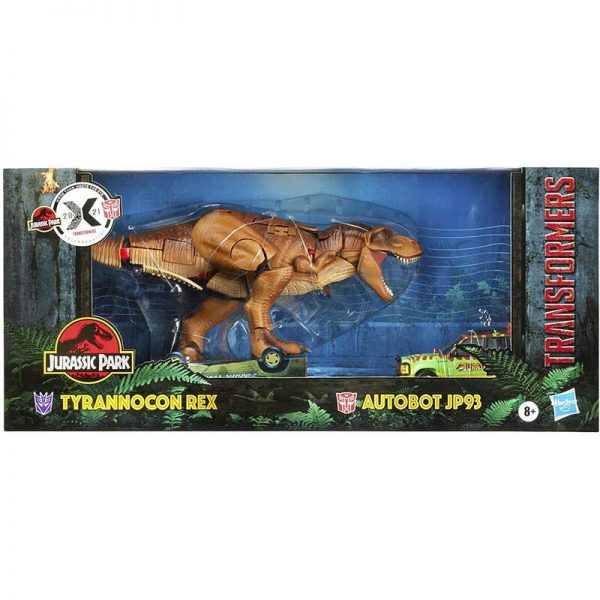 Set 2 figuras Tyrannocon Rex + Autobot JP93 Transformers Jurassic Park