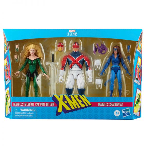 Set 3 figuras Meggan, Captain Britain y  Shadowcat X-Men Marvel Legends 15cm